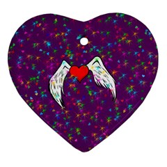 Your Heart Has Wings So Fly   Updated Heart Ornament (two Sides) by KurisutsuresRandoms
