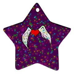 Your Heart Has Wings So Fly   Updated Star Ornament (two Sides)