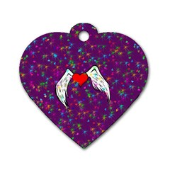Your Heart Has Wings So Fly   Updated Dog Tag Heart (two Sided) by KurisutsuresRandoms