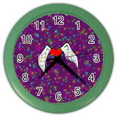 Your Heart Has Wings So Fly   Updated Wall Clock (color) by KurisutsuresRandoms