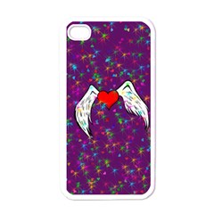 Your Heart Has Wings So Fly   Updated Apple Iphone 4 Case (white) by KurisutsuresRandoms