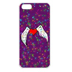 Your Heart Has Wings So Fly   Updated Apple Iphone 5 Seamless Case (white)