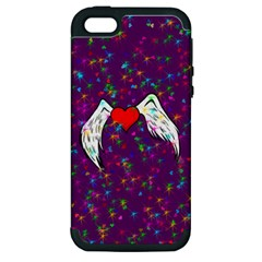 Your Heart Has Wings So Fly   Updated Apple Iphone 5 Hardshell Case (pc+silicone) by KurisutsuresRandoms