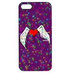 Your Heart Has Wings So Fly   Updated Apple Iphone 5 Hardshell Case With Stand by KurisutsuresRandoms