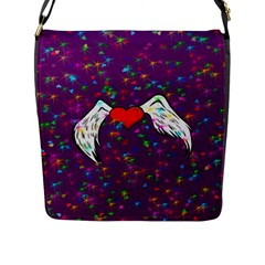 Your Heart Has Wings So Fly   Updated Flap Closure Messenger Bag (large) by KurisutsuresRandoms