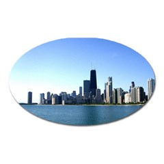 Chicago Skyline Magnet (oval) by canvasngiftshop