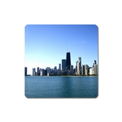 Chicago Skyline Magnet (square) by canvasngiftshop
