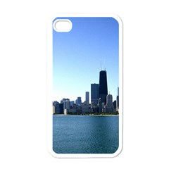 Chicago Skyline Apple Iphone 4 Case (white) by canvasngiftshop