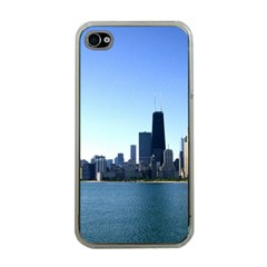 Chicago Skyline Apple Iphone 4 Case (clear) by canvasngiftshop