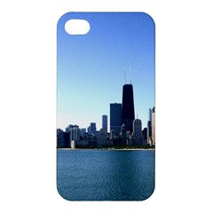 Chicago Skyline Apple Iphone 4/4s Premium Hardshell Case by canvasngiftshop