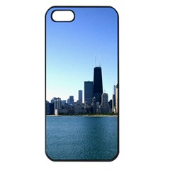 Chicago Skyline Apple Iphone 5 Seamless Case (black) by canvasngiftshop