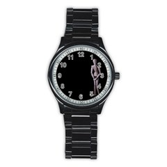 I Have To Go Sport Metal Watch (black) by hlehnerer