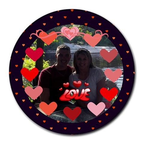 Circle Of Love Round Mousepad By Joy Johns   Round Mousepad   2j3quubrtdf9   Www Artscow Com Front