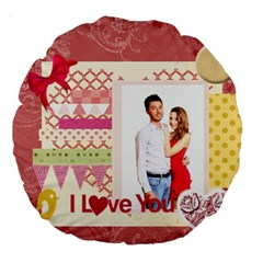 Love By Ki Ki   Large 18  Premium Round Cushion    B8yk6jmtsfzm   Www Artscow Com Back