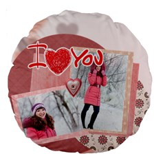 Love By Ki Ki   Large 18  Premium Round Cushion    533hihkxiw4v   Www Artscow Com Back