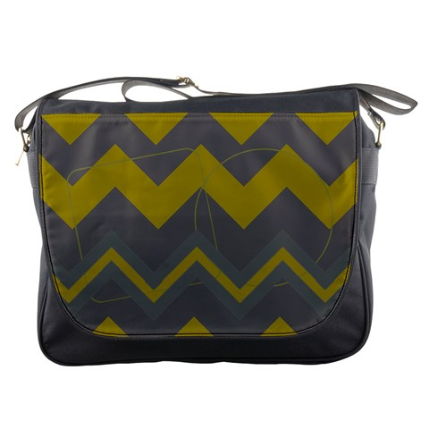 Chevron Messenger Bag By Amanda Bunn   Messenger Bag   35bl9ibbsx82   Www Artscow Com Front