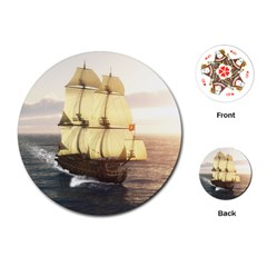 French Warship Playing Cards Single Design (Round) by gatterwe