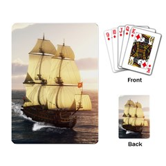French Warship Playing Cards Single Design