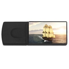 French Warship 4gb Usb Flash Drive (rectangle) by gatterwe