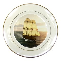 French Warship Porcelain Display Plate by gatterwe
