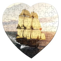 French Warship Jigsaw Puzzle (heart)