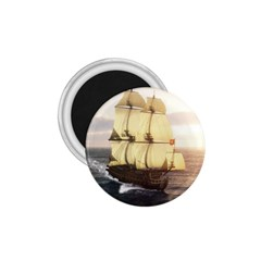 French Warship 1 75  Button Magnet by gatterwe