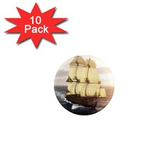 French Warship 1  Mini Button Magnet (10 Pack) by gatterwe