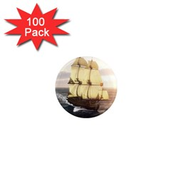French Warship 1  Mini Button Magnet (100 Pack) by gatterwe
