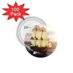 French Warship 1 75  Button (100 Pack) by gatterwe