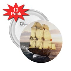 French Warship 2 25  Button (10 Pack) by gatterwe