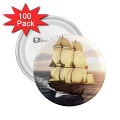 French Warship 2 25  Button (100 Pack) by gatterwe
