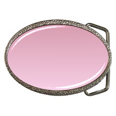 Puce To Pink Lace Gradient Belt Buckle (oval) by BestCustomGiftsForYou