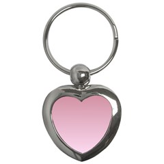 Puce To Pink Lace Gradient Key Chain (heart)
