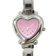 Puce To Pink Lace Gradient Heart Italian Charm Watch  by BestCustomGiftsForYou