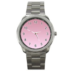 Puce To Pink Lace Gradient Sport Metal Watch by BestCustomGiftsForYou