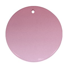 Puce To Pink Lace Gradient Round Ornament (two Sides)