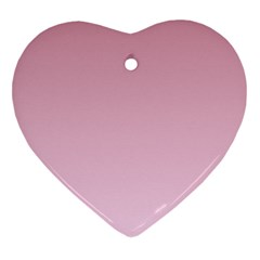Puce To Pink Lace Gradient Heart Ornament (two Sides)