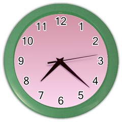 Puce To Pink Lace Gradient Wall Clock (color)