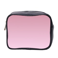 Puce To Pink Lace Gradient Mini Travel Toiletry Bag (two Sides)