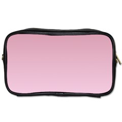 Puce To Pink Lace Gradient Travel Toiletry Bag (two Sides)