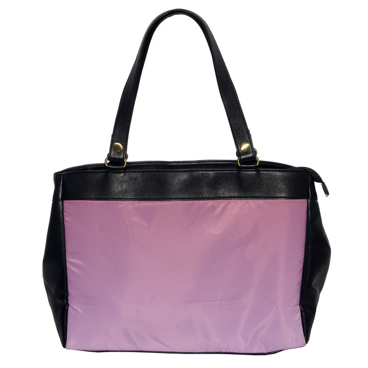 Puce To Pink Lace Gradient Oversize Office Handbag (One Side)