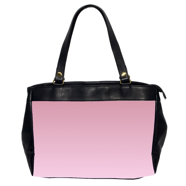 Puce To Pink Lace Gradient Oversize Office Handbag (Two Sides)