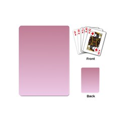 Puce To Pink Lace Gradient Playing Cards (mini) by BestCustomGiftsForYou