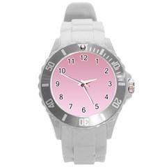Puce To Pink Lace Gradient Plastic Sport Watch (large) by BestCustomGiftsForYou