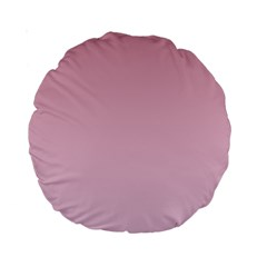 Puce To Pink Lace Gradient 15  Premium Round Cushion  by BestCustomGiftsForYou