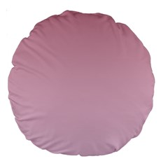 Puce To Pink Lace Gradient 18  Premium Round Cushion  by BestCustomGiftsForYou