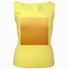 Pink Lace To Puce Gradient Womens  Tank Top (yellow)