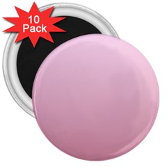 Pink Lace To Puce Gradient 3  Button Magnet (10 Pack)