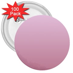 Pink Lace To Puce Gradient 3  Button (100 pack) by BestCustomGiftsForYou