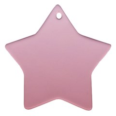 Pink Lace To Puce Gradient Star Ornament (two Sides)